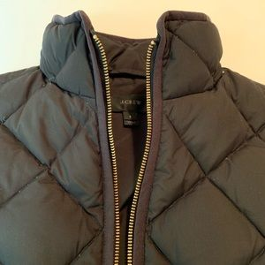 LIKE NEW J. Crew Quilted Water Resistant Down Vest